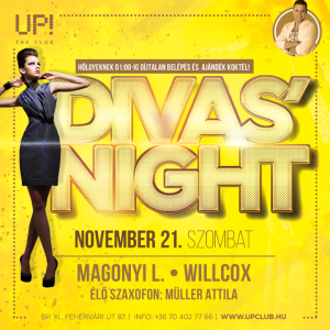 Up! The Club, Budapest, 2015.11.21., Magonyi L., Willcox, Müller Attila
